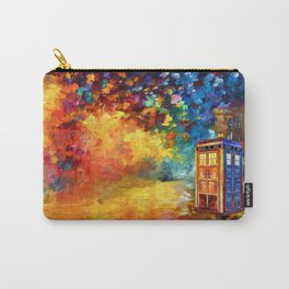 Police Phone Box at Rainbow city Art painting iPhone 4 4s 5 5c 6 7, pillow case, mugs and tshirt Carry-All Pouch