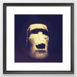 Pixel Monolith Framed Art Print