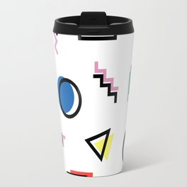 Abstract Memphis Graphic Travel Mug