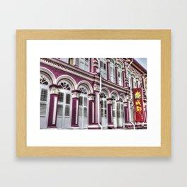 China Town Singapore Framed Art Print