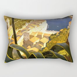La Riviera italienne, Portofino près de S.Margherita et Rapallo Rectangular Pillow