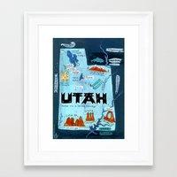 utah Framed Art Prints featuring UTAH by Christiane Engel