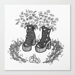 Witch' Boots Canvas Print