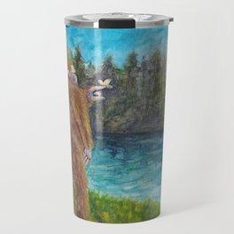 Bigfoot at the Lake Travel Mug