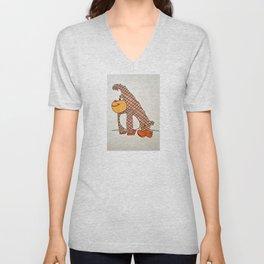 cartoon ape Unisex V-Neck