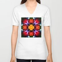 dna V-neck T-shirts featuring DNA 1 by Steve Purnell