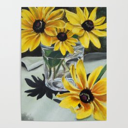 Sunflowers in the Sun Poster