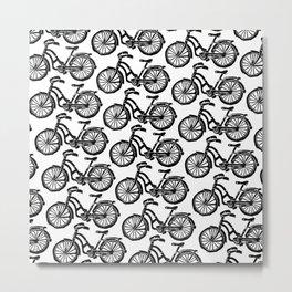 roule ma poule - wanna ride my bicycle BLACK Metal Print