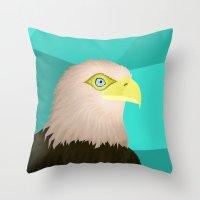 eagle Throw Pillows featuring Eagle by Nir P