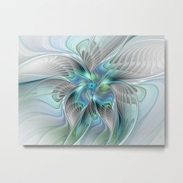 Abstract Butterfly, Fantasy Fractal Art Metal Print