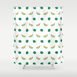 Durian - Singapore Tropical Fruits Series Shower Curtain