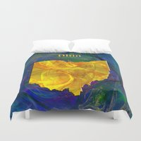 ohio Duvet Covers featuring Ohio Map by Roger Wedegis