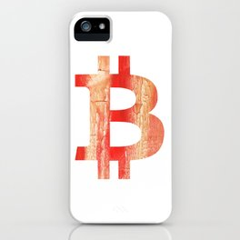 Bitcoin Burnt sienna watercolor iPhone Case