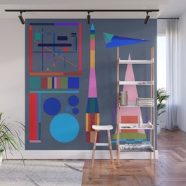 Plans, Worlds and Rockets No. 2 Wall Mural