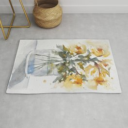 Essence of Daffodil in Watercolor Rug
