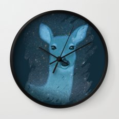 Midnight Deer Wall Clock