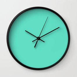Tiffany Aqua Blue Solid Color Wall Clock