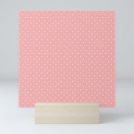 Two Tone Bright Blush Pink Mini Love Hearts Mini Art Print