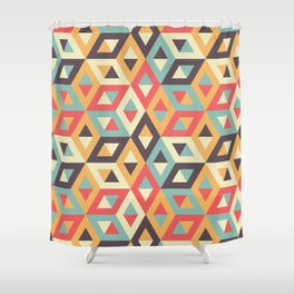 Pastel Geometric Pattern Shower Curtain