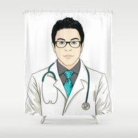 doctor Shower Curtains featuring Doctor by BusOne - Aldo Campilongo
