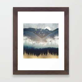 Blue Mountain Mist Framed Art Print