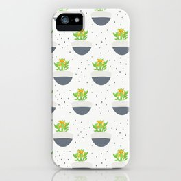 Potted Kalanchoe Plant Mom Pattern iPhone Case