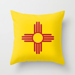 Flag of New Mexico - Authentic High Quality Image Throw Pillow