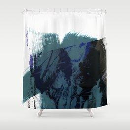 brush strokes 8 Shower Curtain