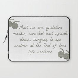 Quotation Marks Laptop Sleeve