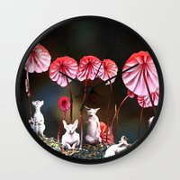 naked Wall Clocks featuring naked by madild