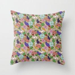 Vegetable Flowers Throw Pillow