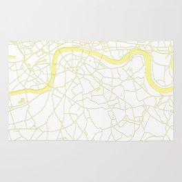 London White on Yellow Street Map Rug