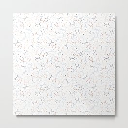Feynman diagrams and Particles on White Metal Print