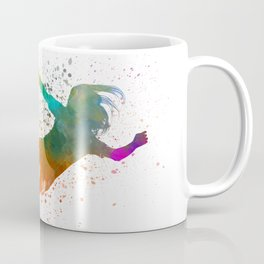 Woman soccer player 14 in watercolor Coffee Mug
