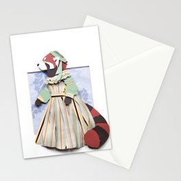 Mrs. Red Panda Stationery Cards
