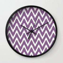 Violet Asian Moods Ikat Chevrons Wall Clock