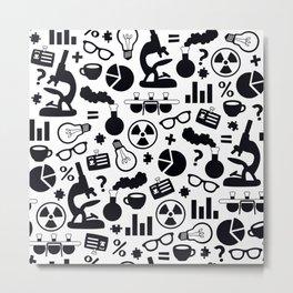 Science Pattern Metal Print