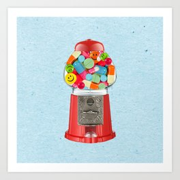 crazy candy Art Print