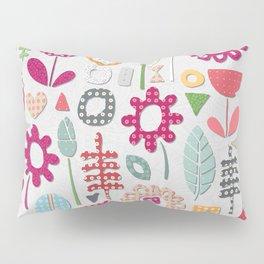 paper cut flowers silver Pillow Sham