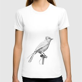 Albino Blue Jay - Square Format Natural History Bird Portrait T-shirt