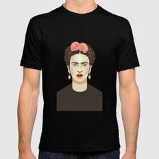 Frida Kahlo Black Mens Fitted Tee MEDIUM