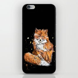 Fox in black iPhone Skin