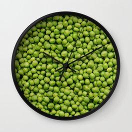 Green Peas Texture No1 Wall Clock