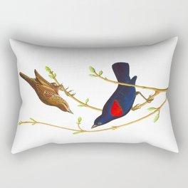 Prairie Starling Bird Rectangular Pillow