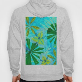 My blue abstract Aloha Tropical Jungle Garden Hoody
