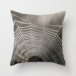 SPIDERWEB TRAVELS Throw Pillow