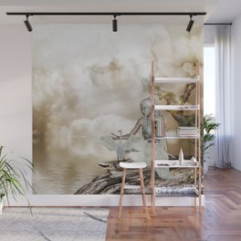 Fairy and the swan Wall Mural