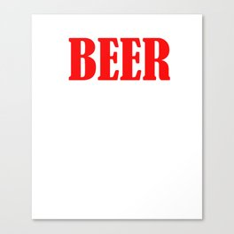 Beer The Only Good Carb T-shirt Canvas Print