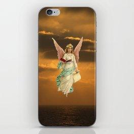 Christmas Card (Angel Sunset) iPhone Skin