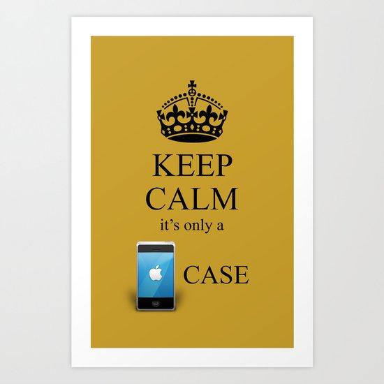 KEEP CALM IPHONE v1 Art Print